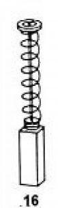 Balais de Charbon Asein 0157 pour Outils Électriques Bosch - Dimensiones 5x8x14,5 mm - 0,20x0,31x0,57 inch - Remplace les pièces d'origine 2.604.321.913 de la marque Asein image 0 produit