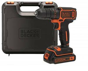 BLACK+DECKER BDCDC18K-QW Perceuse-Visseuse sans fil - 18 V - 1,5 Ah - 30 Nm - 0 - 650 trs/min - 1 vitesse - 1 Batterie - Chargeur inclus - Livrée en coffret de la marque Black & Decker image 0 produit