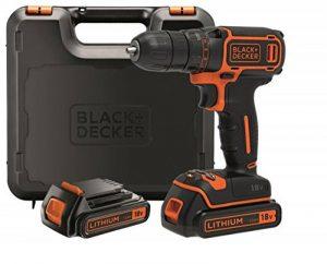 BLACK+DECKER BDCDC18KB-QW Perceuse visseuse sans fil - 18V - 30 nm - Lithium-ion - 2 batteries 1,5 Ah - Chargeur inclus - Livrée en coffret de la marque Black-Decker image 0 produit