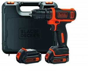 BLACK+DECKER BDCDD12KB-QW Perceuse-Visseuse sans fil - 10,8 V - 1,5 Ah - 26 Nm - 2 Batteries - Livrée en coffret de la marque Black & Decker image 0 produit