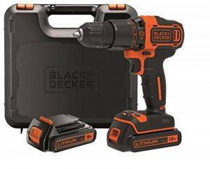 BLACK+DECKER BDCHD18KB-QW Perceuse à percussion sans fil - 18V - 40 Nm - Lithium-ion - 2 vitesses - 2 Batteries 1,5 Ah - Livrée en coffret de la marque Black & Decker image 0 produit