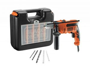 BLACK+DECKER CD714CRESKA-QS Perceuse à percussion, 710 W, Orange, Set de 5 Pièces de la marque Black & Decker image 0 produit