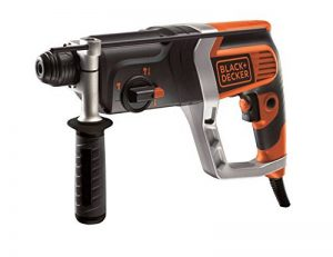 BLACK+DECKER KD990KA-QS Perforateur pneumatique filaire - 850W - 230V - 0-980 trs/min - 0-5180 coups/min - 3 modes : perçage, perforateur, burinage leger - 9 Accessoires - Livré en coffret de la marque Black & Decker image 0 produit