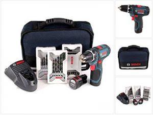 Bosch 0.601.868.109 Professional GSR 12v-15–2-Li Kit perceuse-visseuse sans fil 12V avec 39 accessoires et 2 batteries (1,5Ah) de la marque Bosch Professional image 0 produit