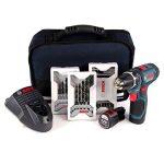 Bosch 0.601.868.109 Professional GSR 12v-15–2-Li Kit perceuse-visseuse sans fil 12V avec 39 accessoires et 2 batteries (1,5Ah) de la marque Bosch Professional image 1 produit