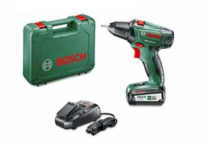 Bosch 060397340N Perceuse-Visseuse Sans Fil PSR 14,4 LI-2 (Batterie 2,5 Ah, 14,4V, dans Coffret) de la marque Bosch image 0 produit
