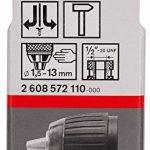 """Bosch 2608572110 Mandrin automatique jusqu'à 13 mm 1,5-13mm, 1/2""""-20 de la marque Bosch image 1 produit"""