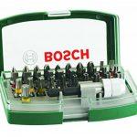 Bosch Boîtier d'embouts de vissage courts avec code couleur 31 pièces et 1 porte-embout 2607017063 de la marque Bosch image 1 produit