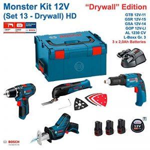 BOSCH Monster Kit 12V Set 13 HD Special Pladur (GTB 12V-11+ GOP 12V-LI + GSA 12V-14 + GSR 12V-15 + 3 x 2,0 Ah + AL1230CV + L-Boxx 238) de la marque Todotaladros BOSCH image 0 produit