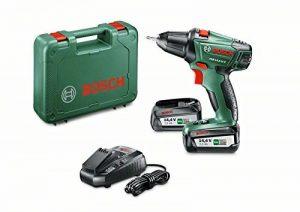 """Bosch Perceuse-visseuse """"Expert"""" sans fil PSR 14,4 Li-2 coffret 2 batteries 14,4V 2,5 Ah, technologie Syneon 060397340P de la marque Bosch image 0 produit"""