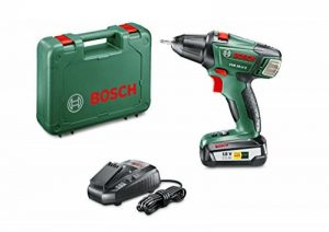 """Bosch Perceuse-visseuse """"Expert"""" sans fil PSR 18 Li-2, coffret 1 batterie 18V 2,5 Ah, technologie Syneon 060397330G de la marque Bosch image 0 produit"""