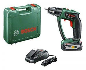 """Bosch Perceuse-visseuse """"Expert"""" sans fil PSR 18 LI-2 Ergonomic 1 batterie 18V 2,5 Ah, technologie Syneon 06039B0100 de la marque Bosch image 0 produit"""