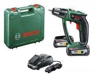 """Bosch Perceuse-visseuse """"Expert"""" sans fil PSR 18 LI-2 Ergonomic 2 batteries 18V 2,5 Ah, technologie Syneon 06039B0101 de la marque Bosch image 0 produit"""