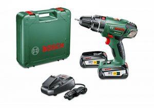 """Bosch Perceuse-visseuse à percussion """"Expert"""" sans fil PSB 18 Li-2, coffret 2 batteries 18V 2,5 Ah, technologie Syneon 060398230C de la marque Bosch image 0 produit"""