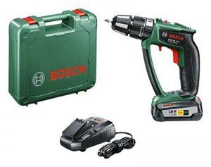 """Bosch Perceuse-visseuse à percussion """"Expert"""" sans fil PSB 18 LI-2 Ergonomic 1 batterie 18V 2,5 Ah, technologie Syneon 06039B0300 de la marque Bosch image 0 produit"""