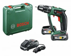 """Bosch Perceuse-visseuse à percussion """"Expert"""" sans fil PSB 18 LI-2 Ergonomic 2 batteries 18V 2,5 Ah, technologie Syneon 06039B0301 de la marque Bosch image 0 produit"""