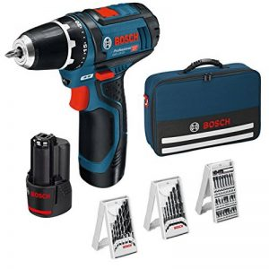Bosch Professional GSR 12V-15 Perceuse sans fil avec 39 pièces Set d'accessoires, 2 batteries 2,0 AH, Chargeur de batterie avec pochette de rangement, 12 V de la marque Bosch Professional image 0 produit