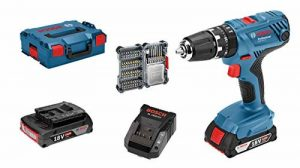 Bosch Professional perceuse-visseuse à percussion sans-fil GSB 18 V-21 (2 batteries 2,0 Ah, 18 V, avec set d'accessoires 40 pièces, emballage L-BOXX) de la marque Bosch Professional image 0 produit