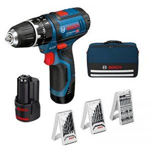 Bosch Professional Perceuse-visseuse sans fil GSB 12V-15, 2x2.0 Ah + accessoires + sac de transport - 0615990GB1 de la marque Bosch Professional image 0 produit