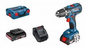 Bosch Professional Perceuse-Visseuse sans-Fil GSR 18-2-LI Plus (2 Batteries de 2,0 Ah, Chargeur Rapide, L-BOXX, 18 V, Couple Maxi : 63 Nm, Ø de Vissage Maxi : 8 Mm) de la marque Bosch Professional image 0 produit