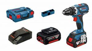 Bosch Professional Perceuse-Visseuse sans-fil GSR 18V-EC (2 Batteries de 4,0 Ah, 18 V, Ø de Vissage Maxi : 10 mm, dans L-BOXX) de la marque Bosch Professional image 0 produit