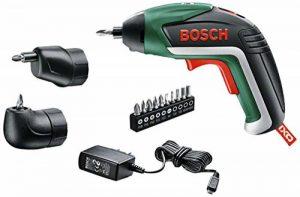 Bosch Visseuse sans Fil IXO Set (Renvoi D'angle Et Mandrin Excentré, 10 Embouts de Vissage, Chargeur USB, boite en mousse, 3,6 V, 1,5 Ah) de la marque Bosch image 0 produit