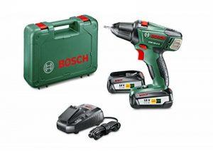 Bosch Visseuse sans Fil PSR 18 LI-2 (2 Batteries, Chargeur, Embout de Vissage Double, Coffret, Système 18V, 2,5 Ah) de la marque Bosch image 0 produit