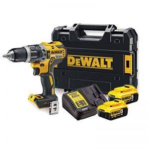 DeWALT DCD796P2-QW Perceuse à poignée pistolet Lithium-Ion (Li-Ion) 5Ah 1800g Noir, Jaune perceuse combi sans fil - Perceuses combi sans fil (Perceuse à poignée pistolet, forage, artisanat, Noir, Jaune, 4 cm, 1,3 cm, 70 N·m) de la marque DeWalt image 0 produit