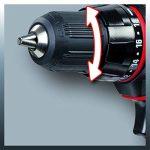 Einhell Perceuse Visseuse sans fil TC-CD 18-2 Li (18 V, Couple : 38 Nm, Blocage de l'arbre, Conception ergonomique, Livré en coffret avec chargeur et batterie supplémentaire) de la marque Einhell image 3 produit