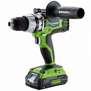 Greenworks Perceuse-visseuse sans balais sans fil 24V Lithium-ion (sans batterie ni chargeur) - 3701607 de la marque Greenworks Tools image 0 produit