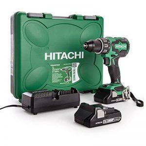 HITACHI DV18DBFL2/JM Perceuse visseuse à percussion + 2 batteries 18V 3Ah Li-ion + coffret de transport 70 Nm de la marque Hitachi image 0 produit