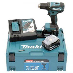 Makita DDF485RTJ Perceuse visseuse Brushless + 2 batteries 18V 5Ah Li-ion + coffret Makpac de la marque Makita image 0 produit
