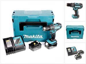 Makita DHP482RTJ Perceuse visseuse à percussion + 2 batteries 18V 5Ah Li-ion + coffret Makpac Bleu de la marque Makita image 0 produit