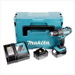 Makita DHP482RTJ Perceuse visseuse à percussion + 2 batteries 18V 5Ah Li-ion + coffret Makpac Bleu de la marque Makita image 1 produit