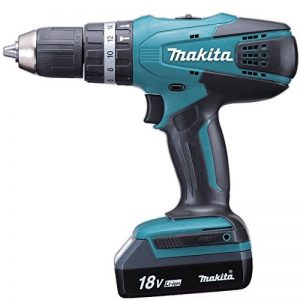 Makita HP457DWE Perceuse visseuse à percussion + 2 batteries 18V 1,5 Ah Li-ion + coffret de transport de la marque Makita image 0 produit