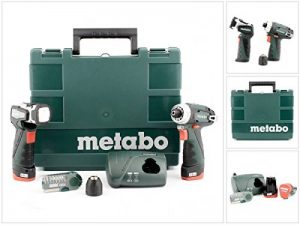 Metabo Perceuse-visseuse sans fil Lampe Power Maxx BS Basic Set, 2x 10,8V/2Ah, 1pièce, 600080530 de la marque Metabo image 0 produit