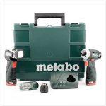 Metabo Perceuse-visseuse sans fil Lampe Power Maxx BS Basic Set, 2x 10,8V/2Ah, 1pièce, 600080530 de la marque Metabo image 1 produit