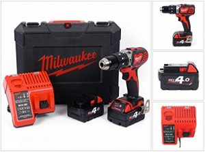Milwaukee 4933443520 – M 18 bpd-402 C Perceuse à percussion 18 V 4,0 Ah LITHIUM 2 Vel. 60 nm de la marque Milwaukee image 0 produit