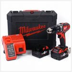 Milwaukee 4933443520 – M 18 bpd-402 C Perceuse à percussion 18 V 4,0 Ah LITHIUM 2 Vel. 60 nm de la marque Milwaukee image 1 produit