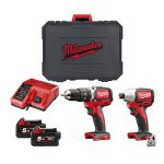 Perceuse à percussion + Perceuse impulsions sans fil M18 Brushless Milwaukee 5Ah 18V de la marque Milwaukee image 1 produit