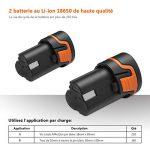 Perceuse Visseuse Sans Fil TACKLIFE PCD03B (2 Batteries Li-ion 12V 2000mAh, Couple 27Nm, 2 Vitesses, 19+1 Possition, Chargeur Rapide 100V-240V, Mandrin Auto-serrant 10mm, 14pcs Accessoires de la marque TACKLIFE image 4 produit