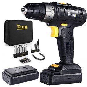 Perceuse Visseuse sans fil, TECCPO Professional Perceuse sans Fil 27Nm, 2 Batteries 2.0Ah, 27 Accessoires, 20+1 Réglages, Peut percer le bois, l'acier, 2 Vitesses Réglables - TDCD02P de la marque TECCPO image 0 produit