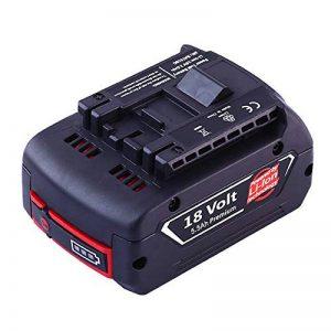 Powayup 18V 5500mAh Li-ion Batterie de Replacement Pour Bosch BAT609 BAT610G BAT618 BAT620 2607336091 Outil de perceuse sans fil de nouvelle version avec l'indicateur de LED de la marque Powayup image 0 produit