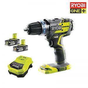Ryobi 5133002534 Perceuse visseuse R18pdbl-ll15s Batterie 18V au lithium, Percussion sans balais + 2batteries li-ion 1,5Ah de la marque Ryobi image 0 produit
