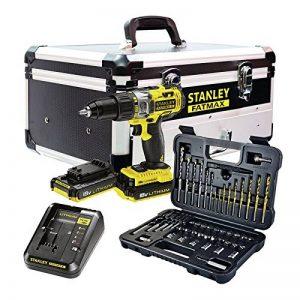 Stanley FatMax–fmck625d2F-qw Kit?: Perceuse Visseuse à percussion 18V fmc625+ Set d'accessoires 50pièces (2batteries + chargeur + Boitier en aluminium) de la marque Stanley image 0 produit