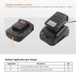 TACKLIFE PCD05B Perceuse Visseuse Sans Fil 18V à 2 Vitesses, 2x2.0 Ah Batteries Lithium-ion, Charge 1h, 19+1 Couples de Serrage (30N.m), Mandrin Métal 10mm, Accessoires 43pcs de la marque TACKLIFE image 3 produit