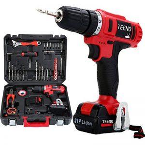 TEENO Perceuse visseuse sans fil PSR 21V+ 2 batteries lithium + 41 accessoires+ gants professionnels de la marque TEENO image 0 produit