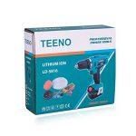 TEENO Perceuse visseuse sans fil sur 2*batterie 16.8V Li (Li-lon, 16.8V, 1500 mAh, 30 Nm,2 vitesses,Mandrin 10 mm, Eclairage LED, chargeur rapide) de la marque TEENO image 4 produit